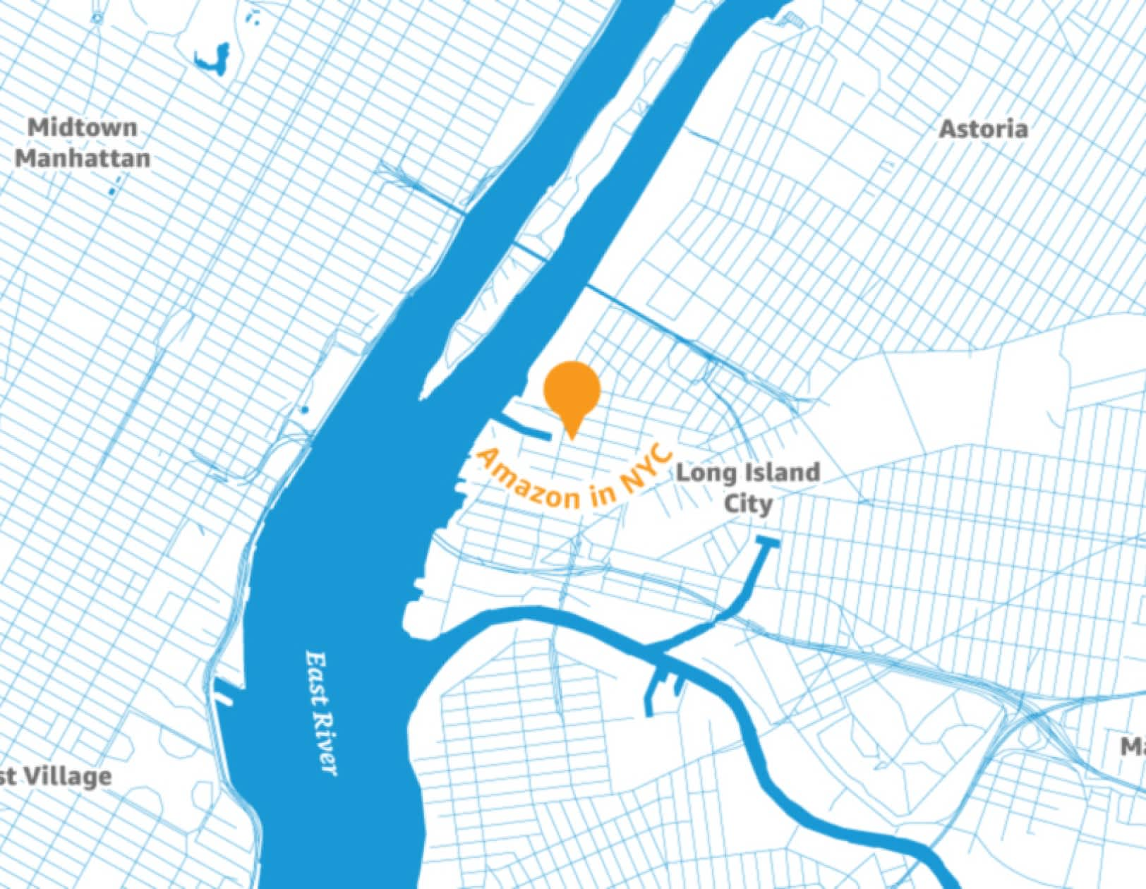 H/O: Map of Amazon in New York