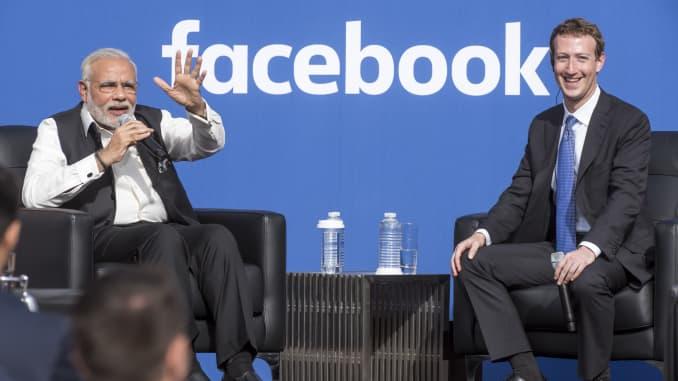 GP: Thủ tướng Ấn Độ Narendra Modi Facebook Mark Zuckerberg 191114