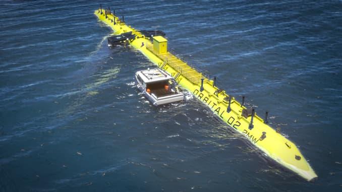 H/O: Tidal turbine image Orkney