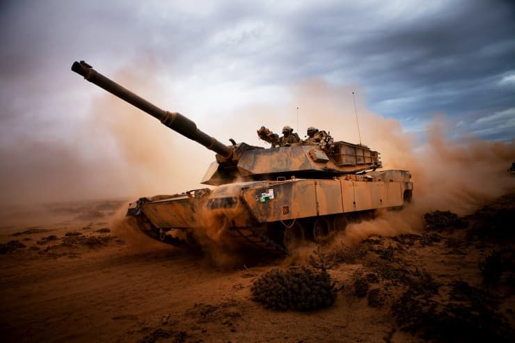 H/O: Marines Abrams tank