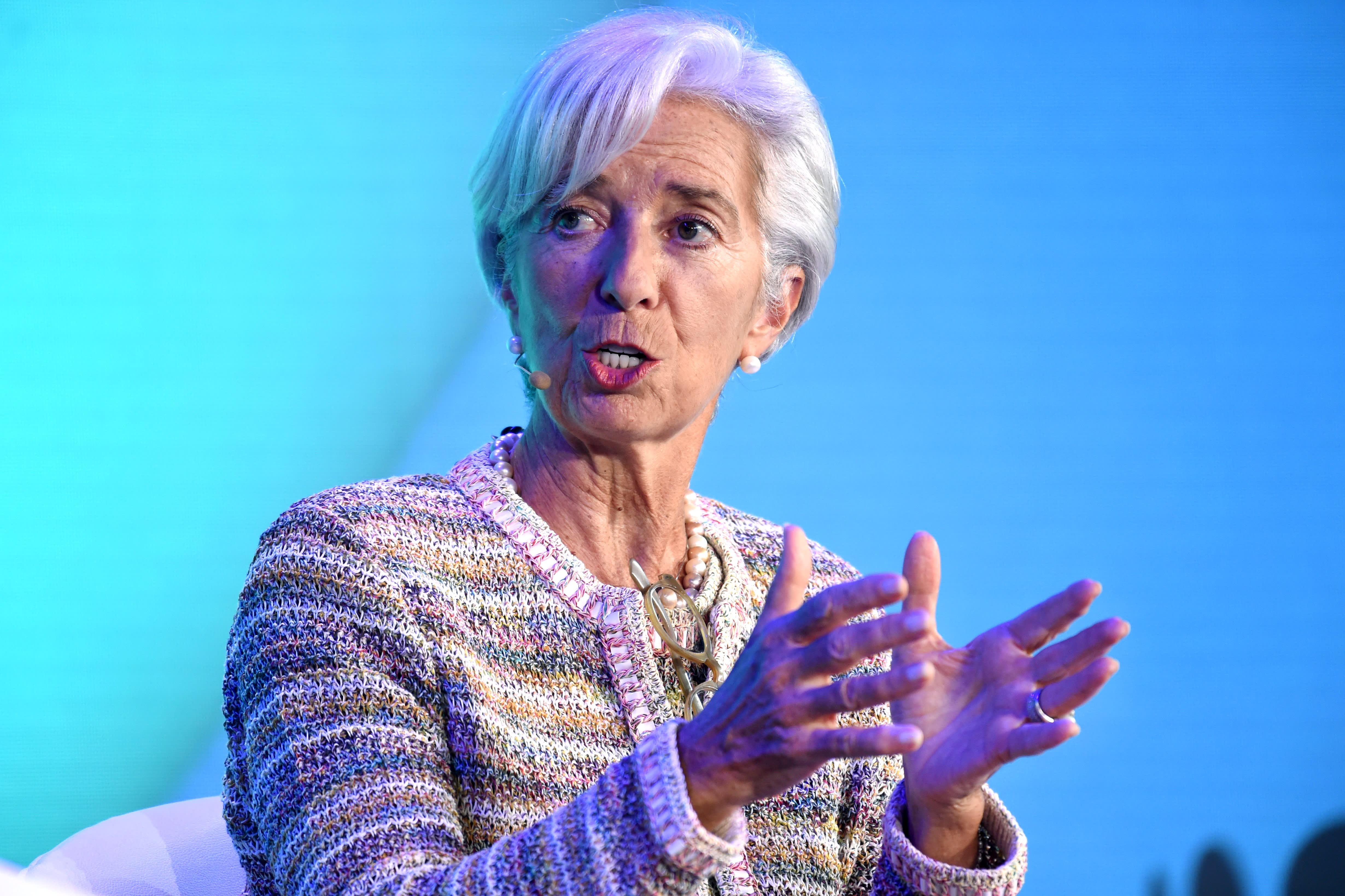 Lagarde will have 'very little' left to tackle any euro zone weakness, bank CEO says