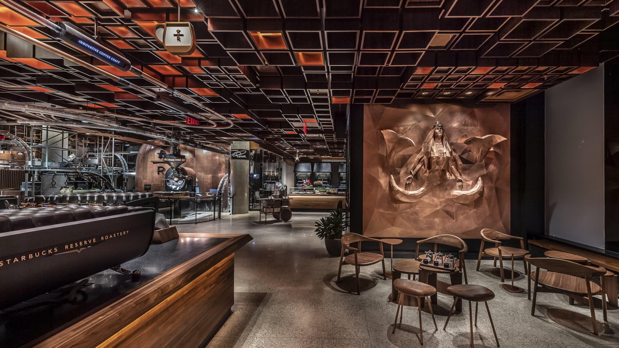 Here S What Starbucks New Roastery In New York City Looks Like