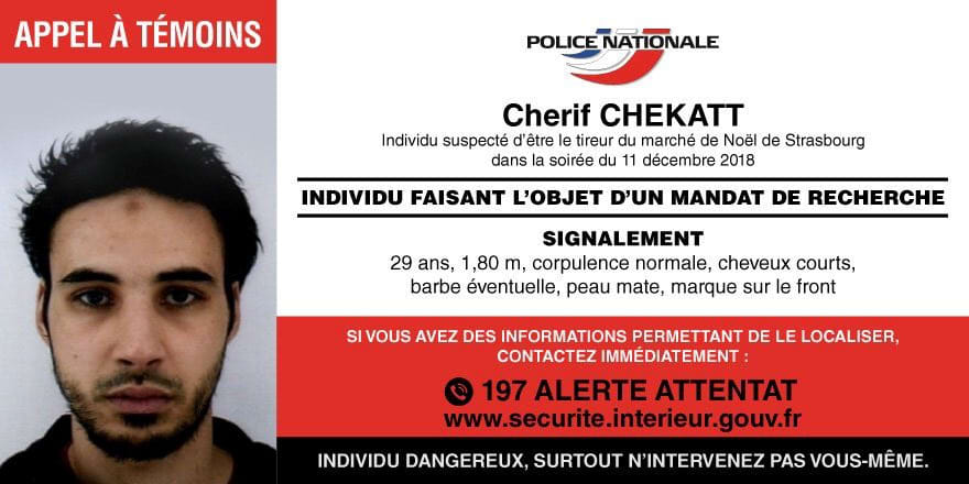 French shooting suspect Strasbourg France 181213