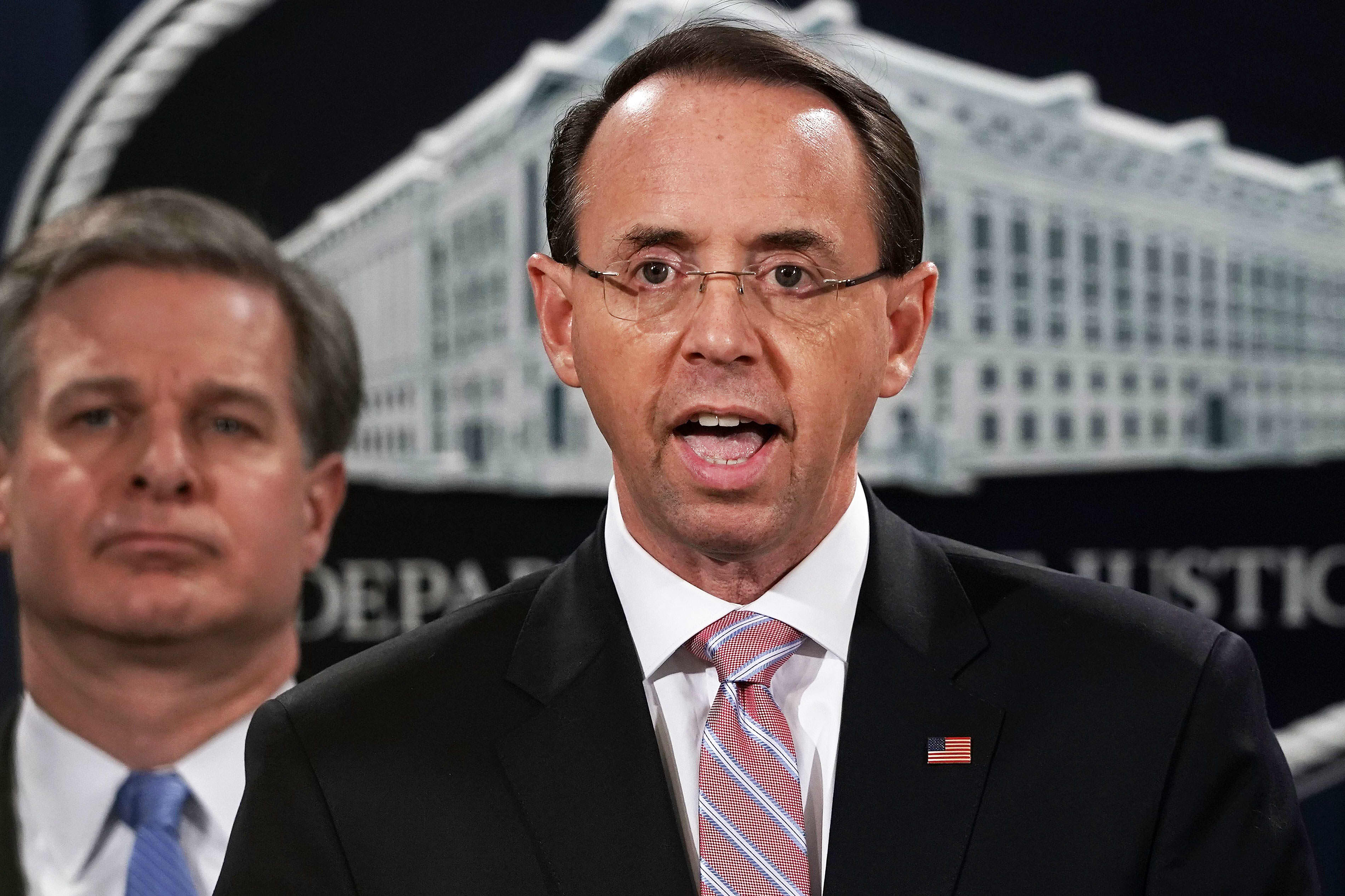 Deputy Attorney General Rod Rosenstein, who appointed special counsel Robert Mueller, submits resignation letter to Trump