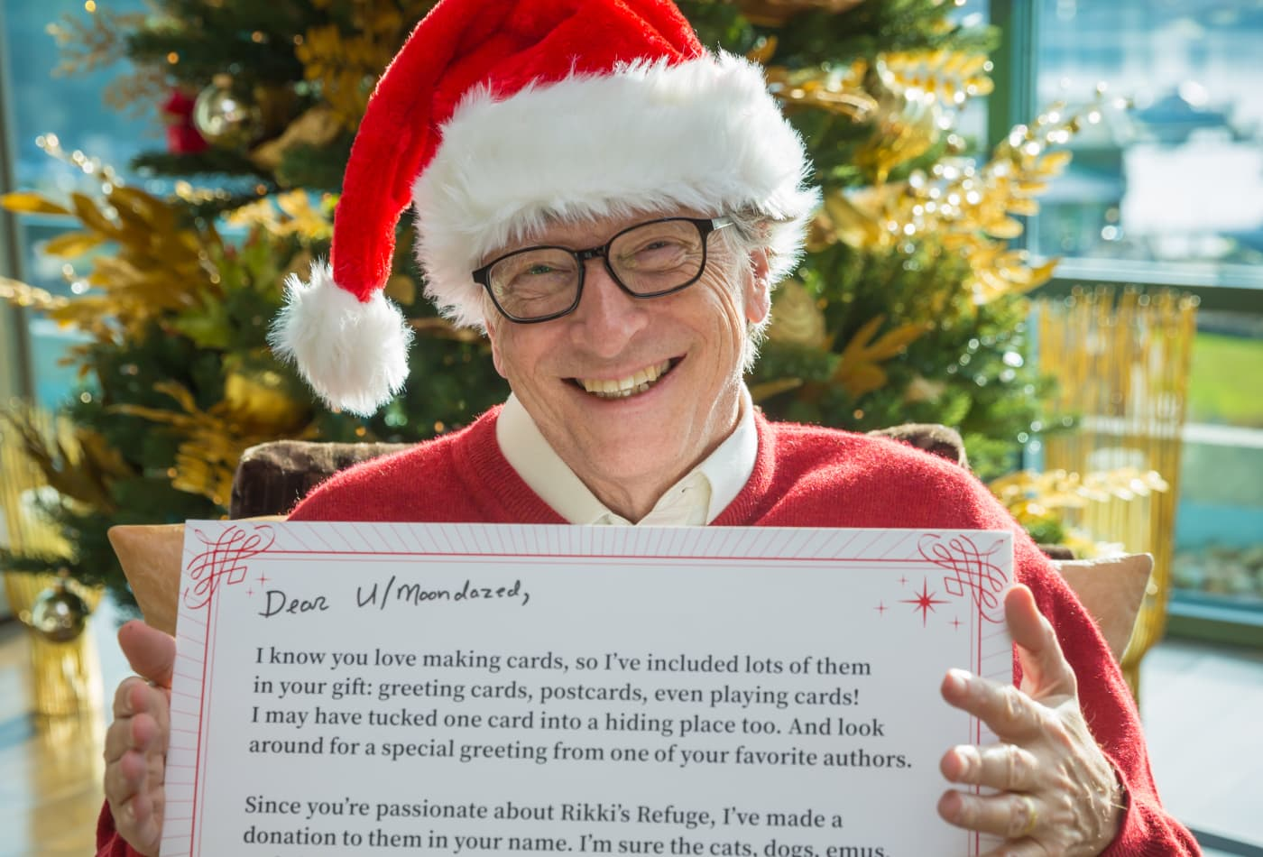 What Bill Gates gave his Reddit Secret Santa match in 2018