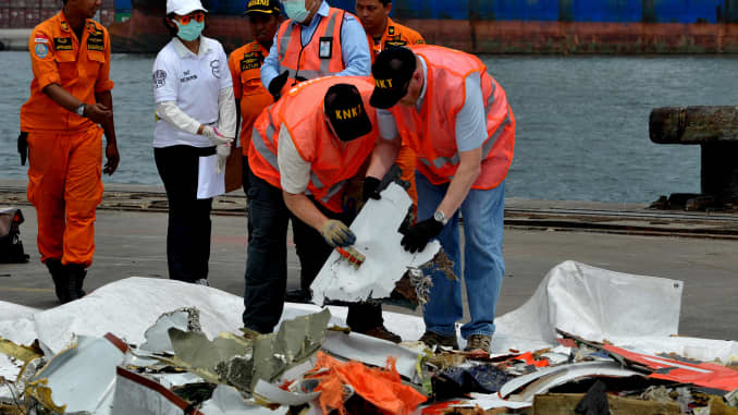 Search and Rescue personnel Lion Air Flight Crashes Into Sea Off Jakarta