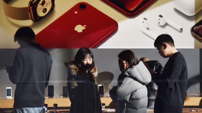 A growing number of Chinese consumers are switching from Apple's
