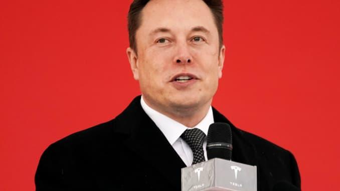 Tesla CEO Elon Musk attends the Tesla Shanghai Gigafactory groundbreaking ceremony in Shanghai, China, January 7, 2019.