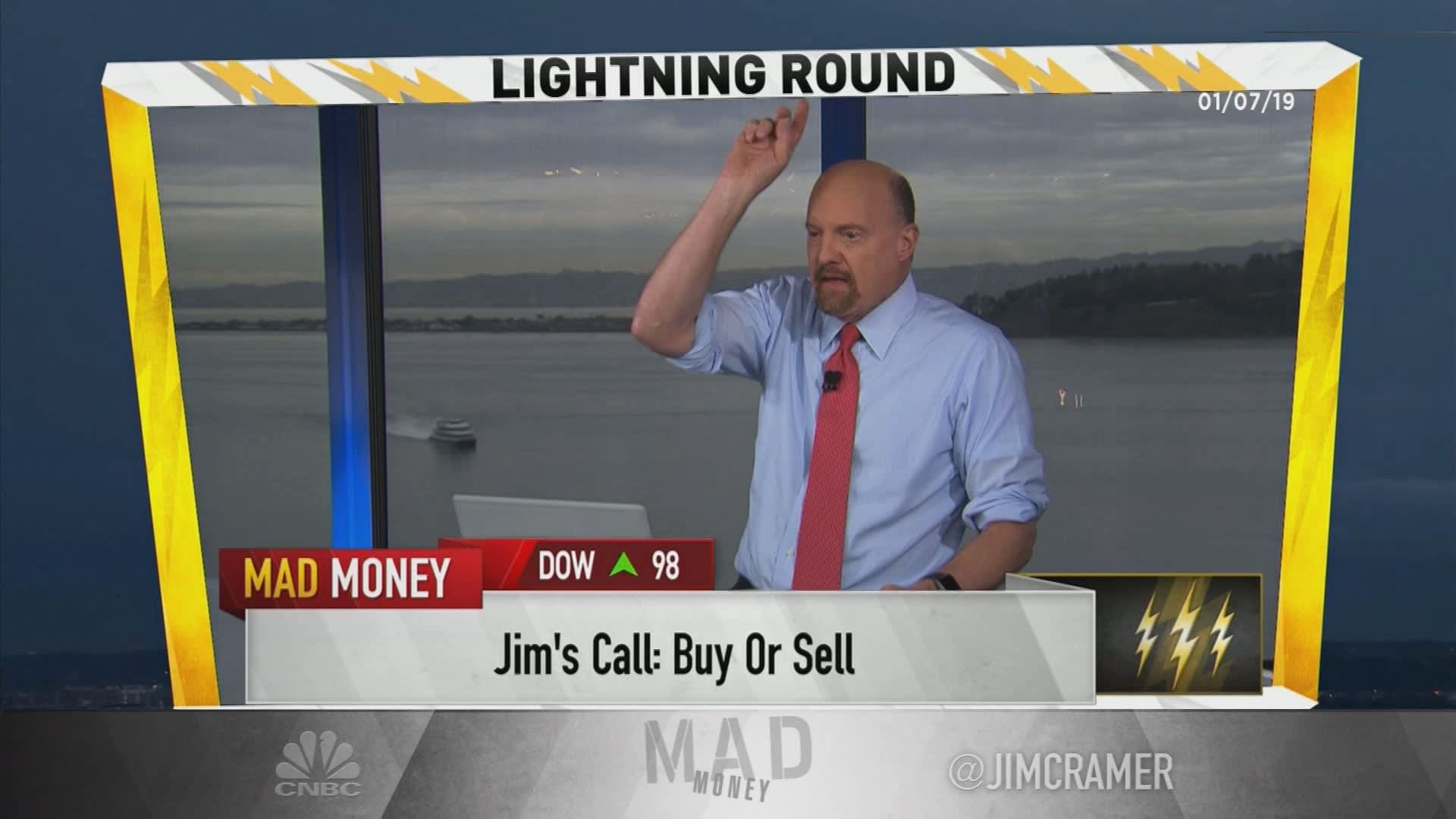 Cramer's lightning round: Be 'very careful' with this stock—it's in a 'giant short squeeze'