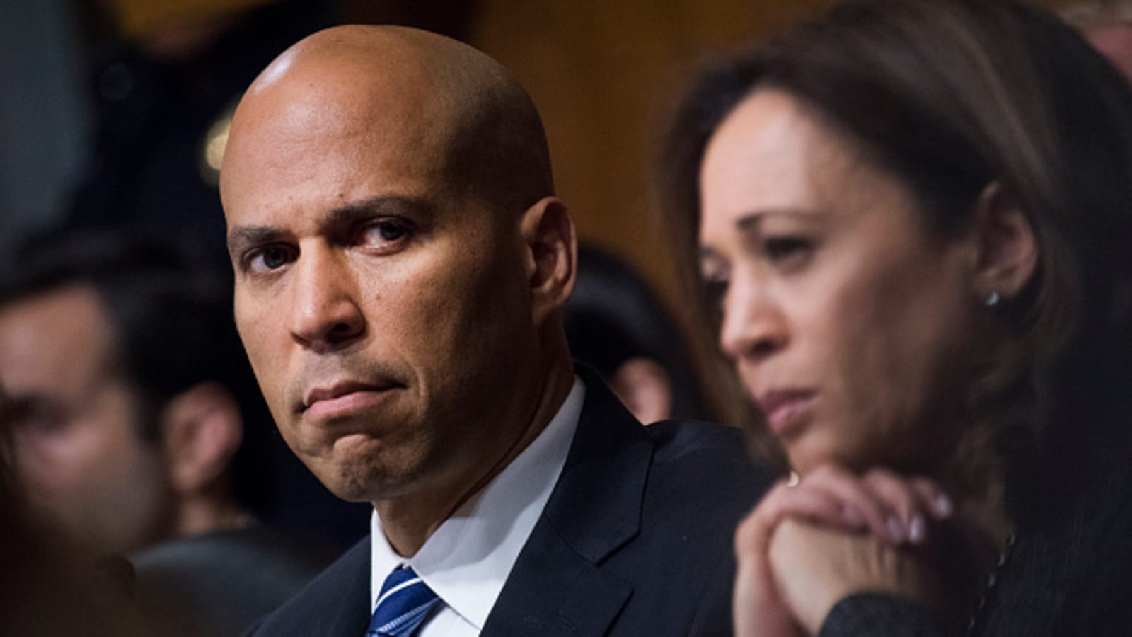 Cory Booker Kamala Harris Talk To Wall Street About Possible 2020 Campaign
