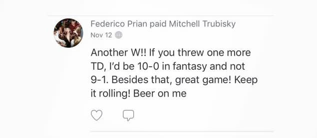 Fans use Venmo to tip Bears QB Mitchell Trubisky, SNL's