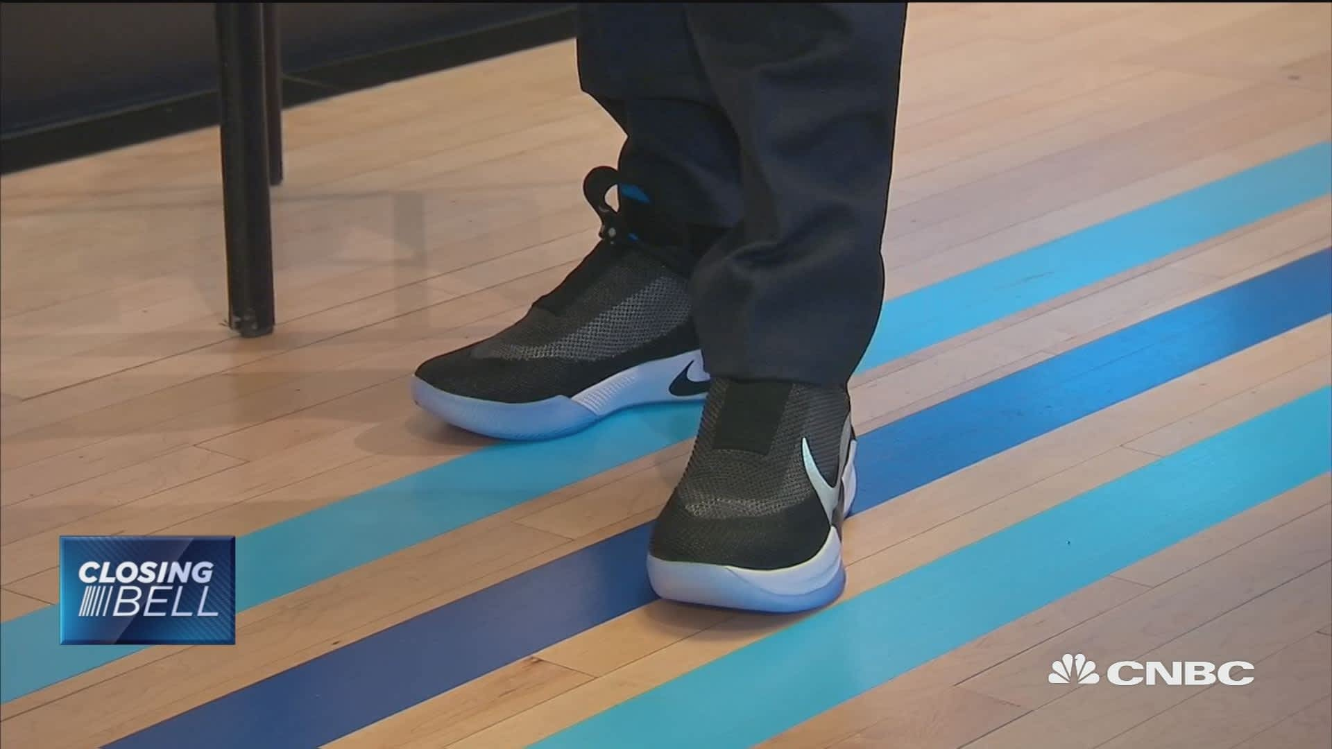 Nike unveils first 'smart,' self-lacing