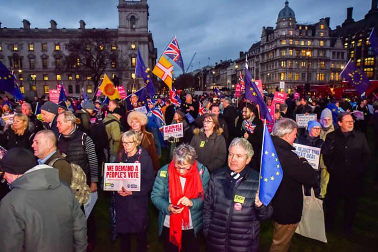 Premium: People's Vote Brexit Deal Rally, Parliament Square, London