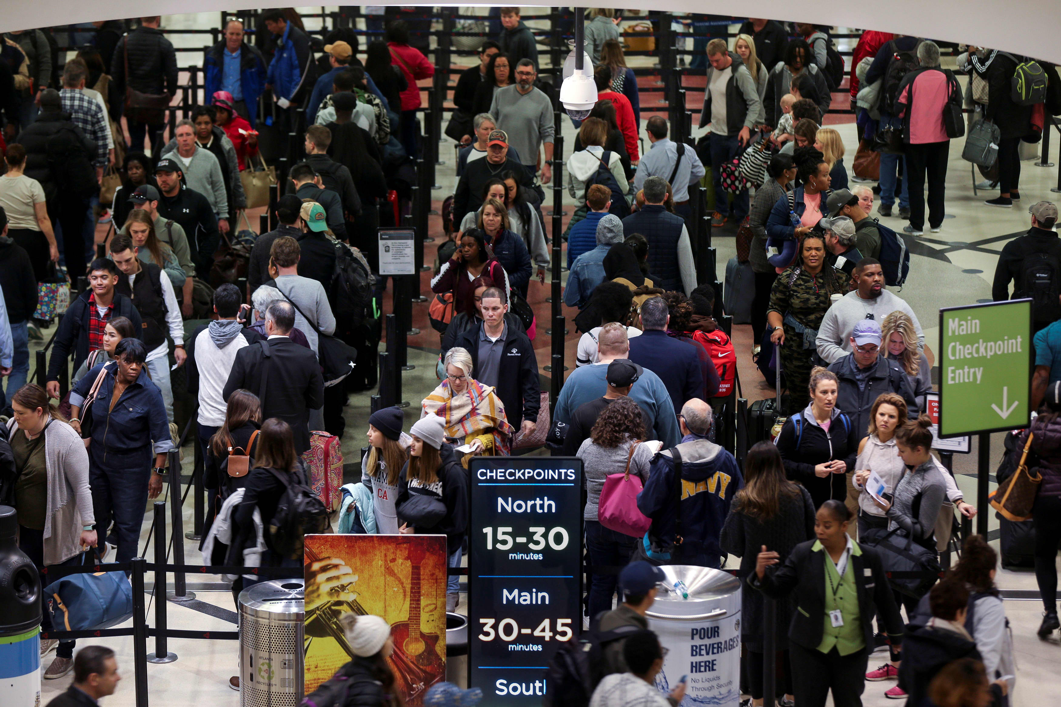 Airport screener absences hit record amid partial government