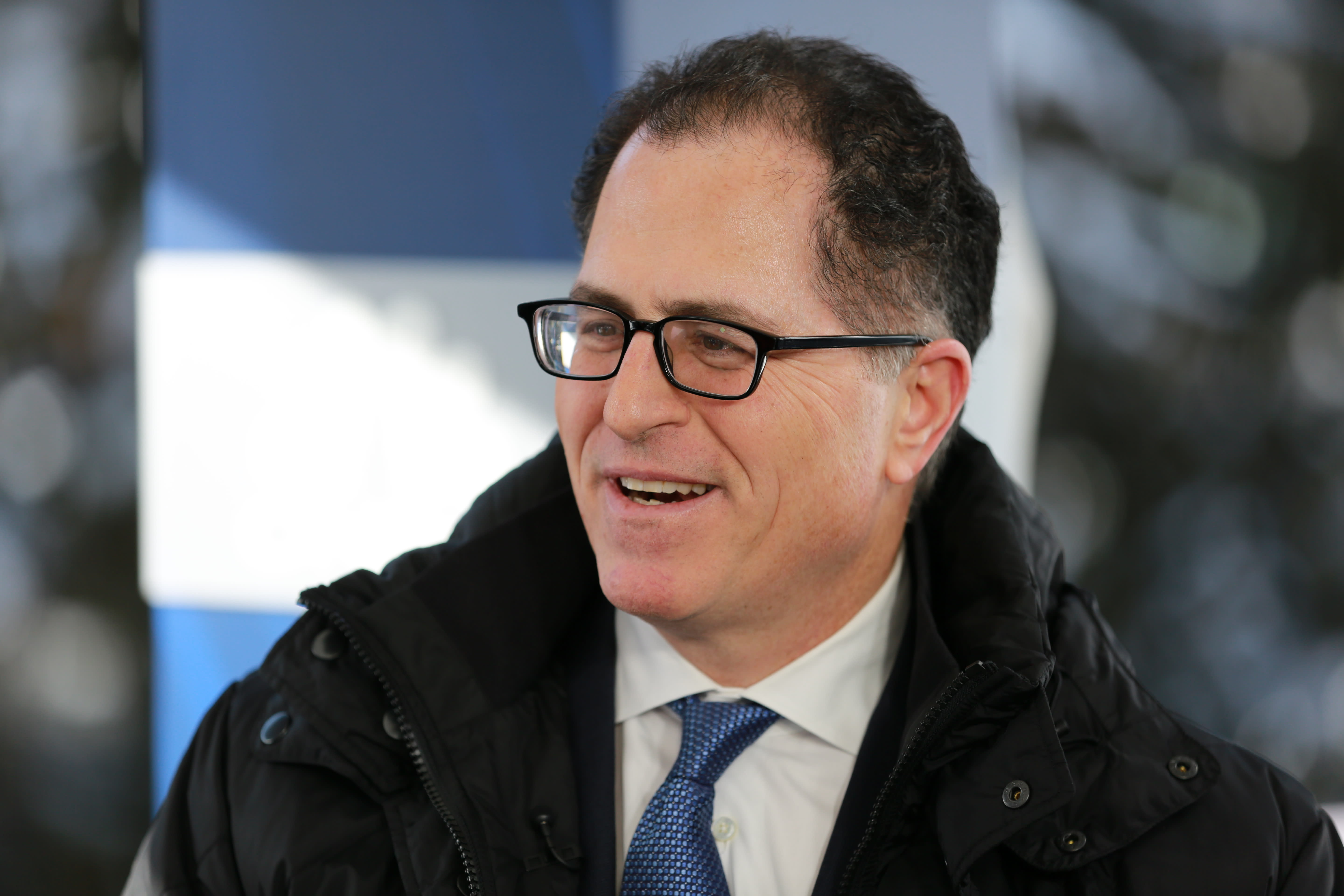 Michael Dell speaking at the 2019 WEF in Davos, Switzerland on Jan. 23rd, 2019.