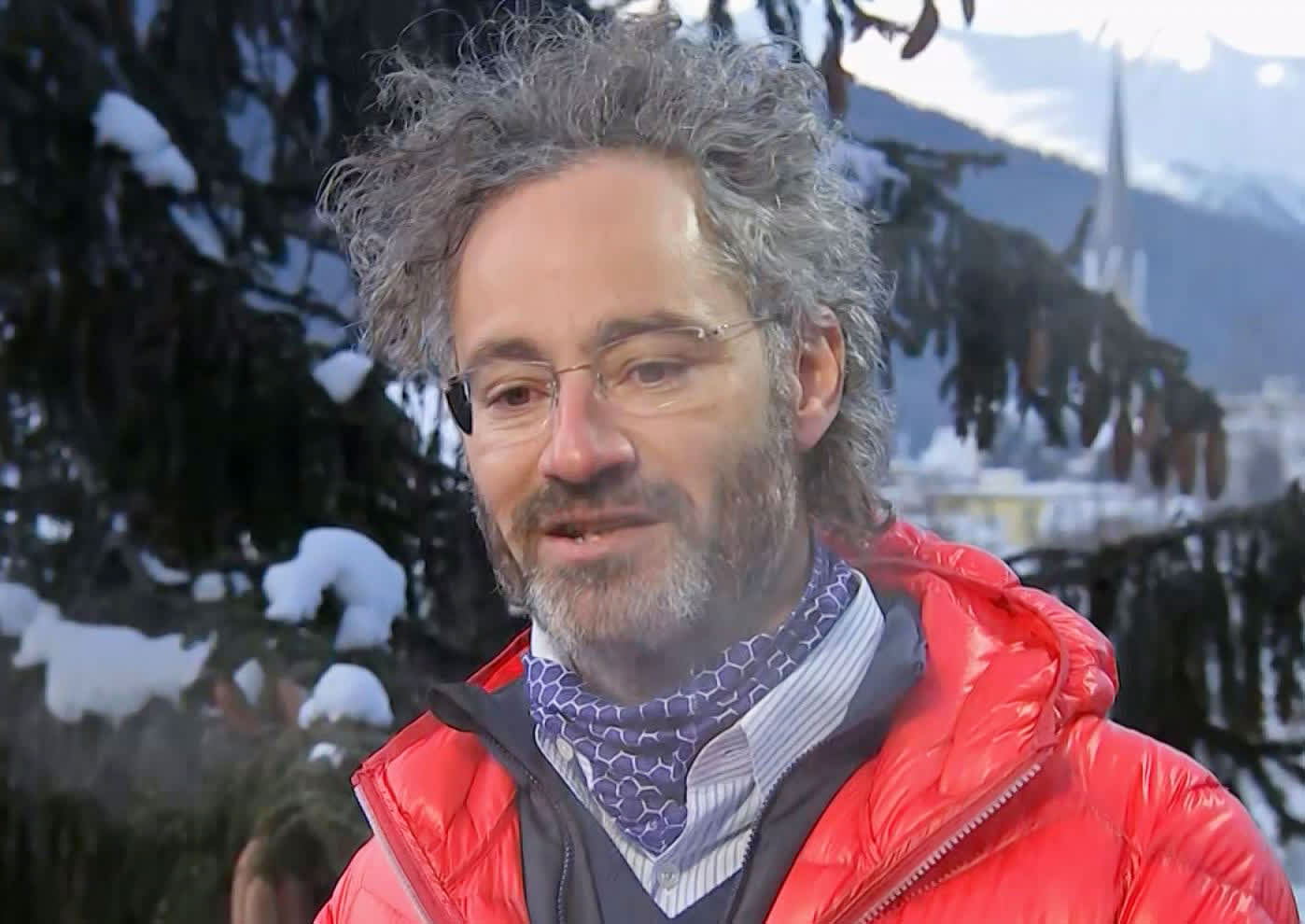 Alex Karp, CEO of Palantir, speaking at the 2019 WEF in Davos, Switzerland on Jan. 23rd, 2019.