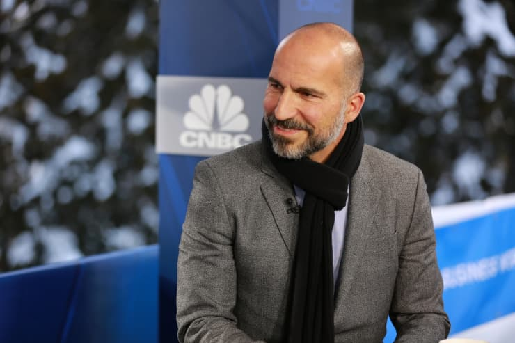 CNBC: 2019 WEF Davos: Dara Khosrowshahi CEO of Uber 190123 4