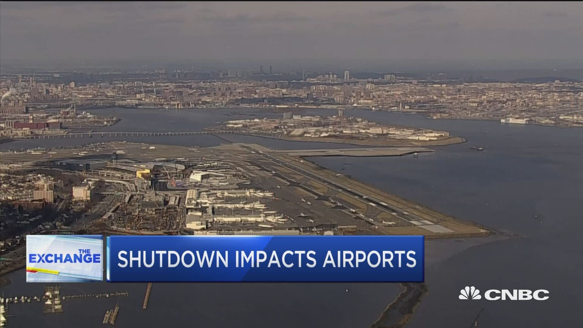 Shutdown now impacting FAA staffing at airports