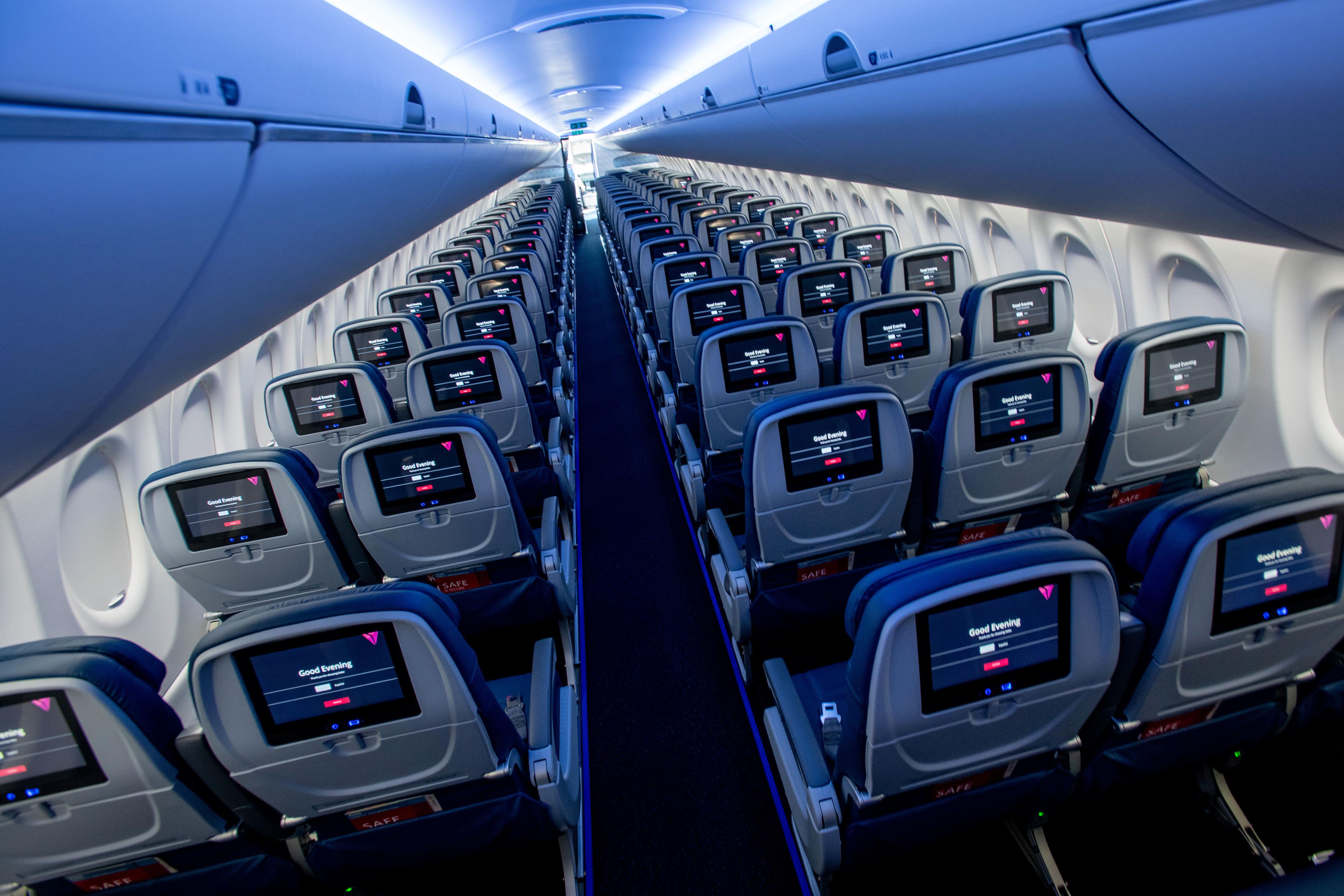 Marvelous Delta Air Lines Quiet Fuel Efficient A220 Planes Finally Uwap Interior Chair Design Uwaporg