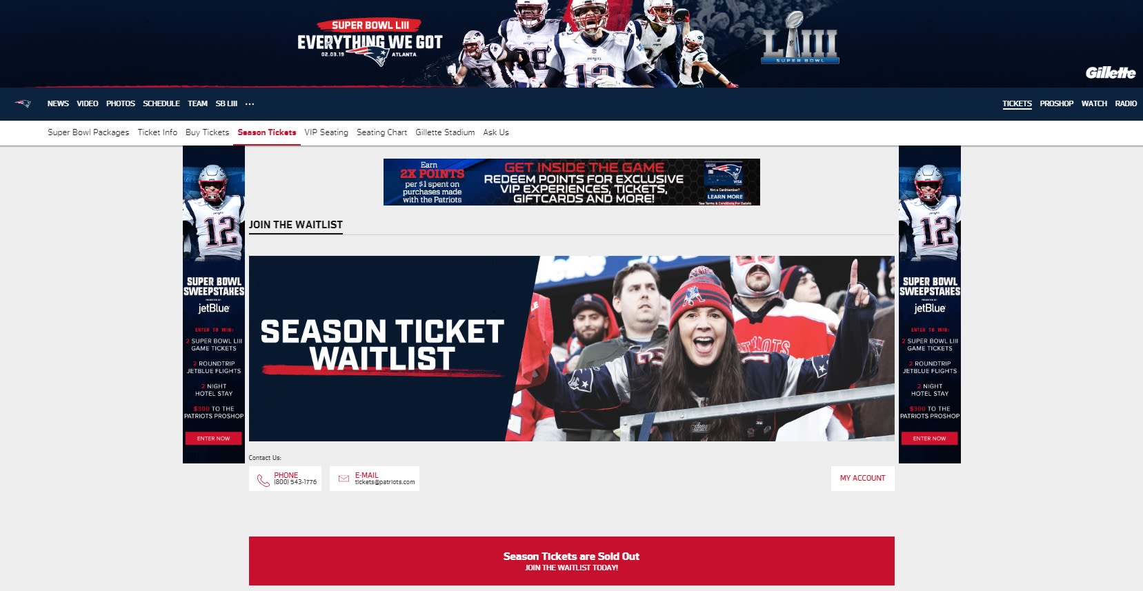 ONE TIME USE HANDOUT: Patriots Season Ticket Page