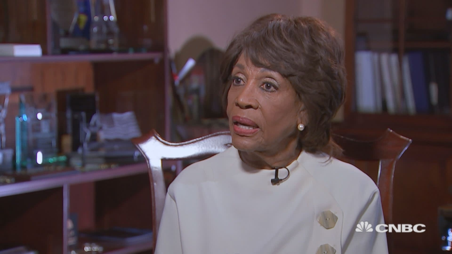Maxine Waters talks about the potential for Trump's impeachment
