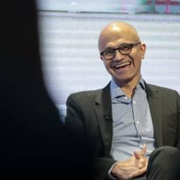 Microsoft beats on earnings, stock ticks up