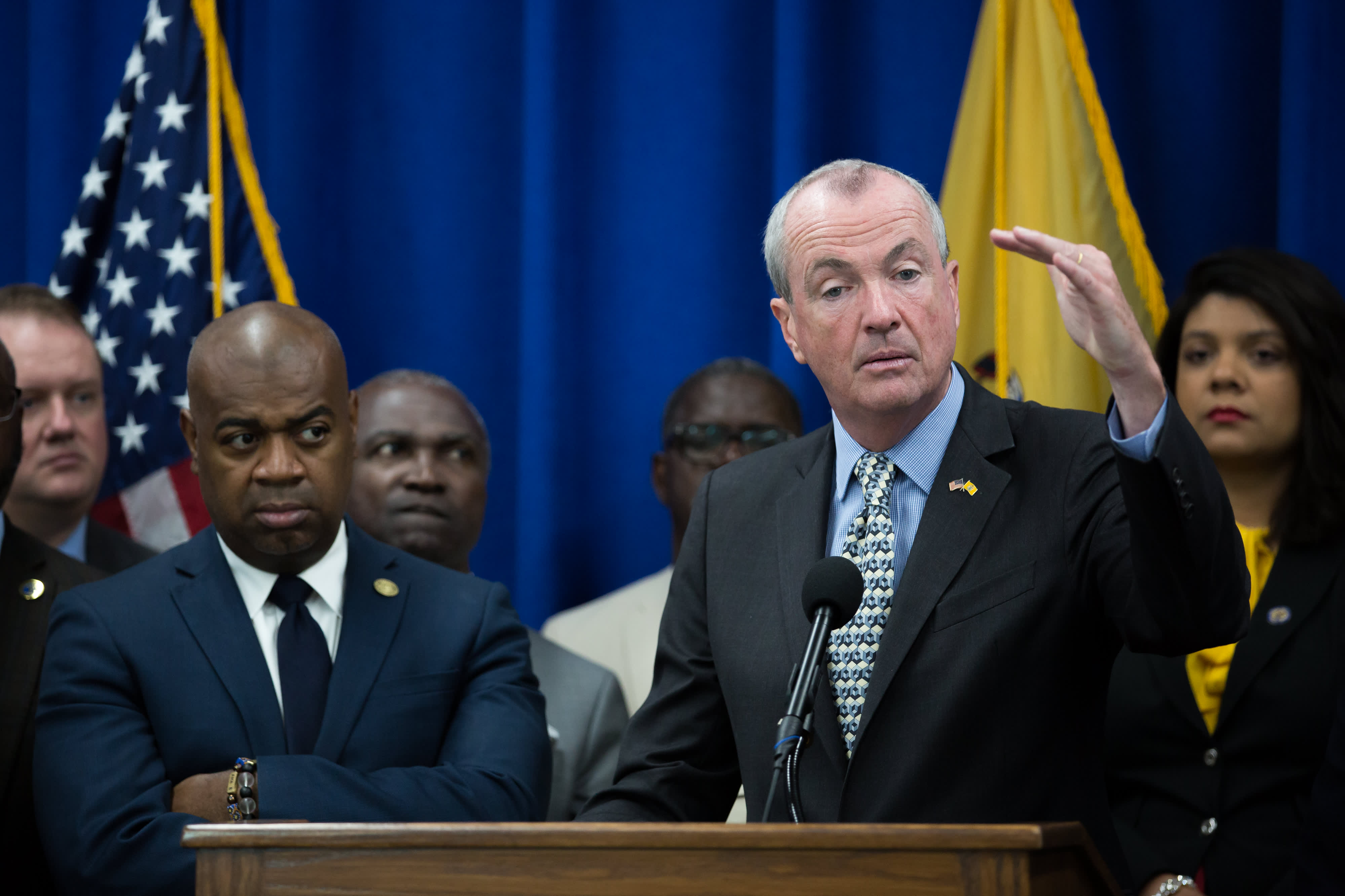 Federal Support For Potent New >> New Jersey Gov Phil Murphy Signs 15 Per Hour Minimum Wage Into Law