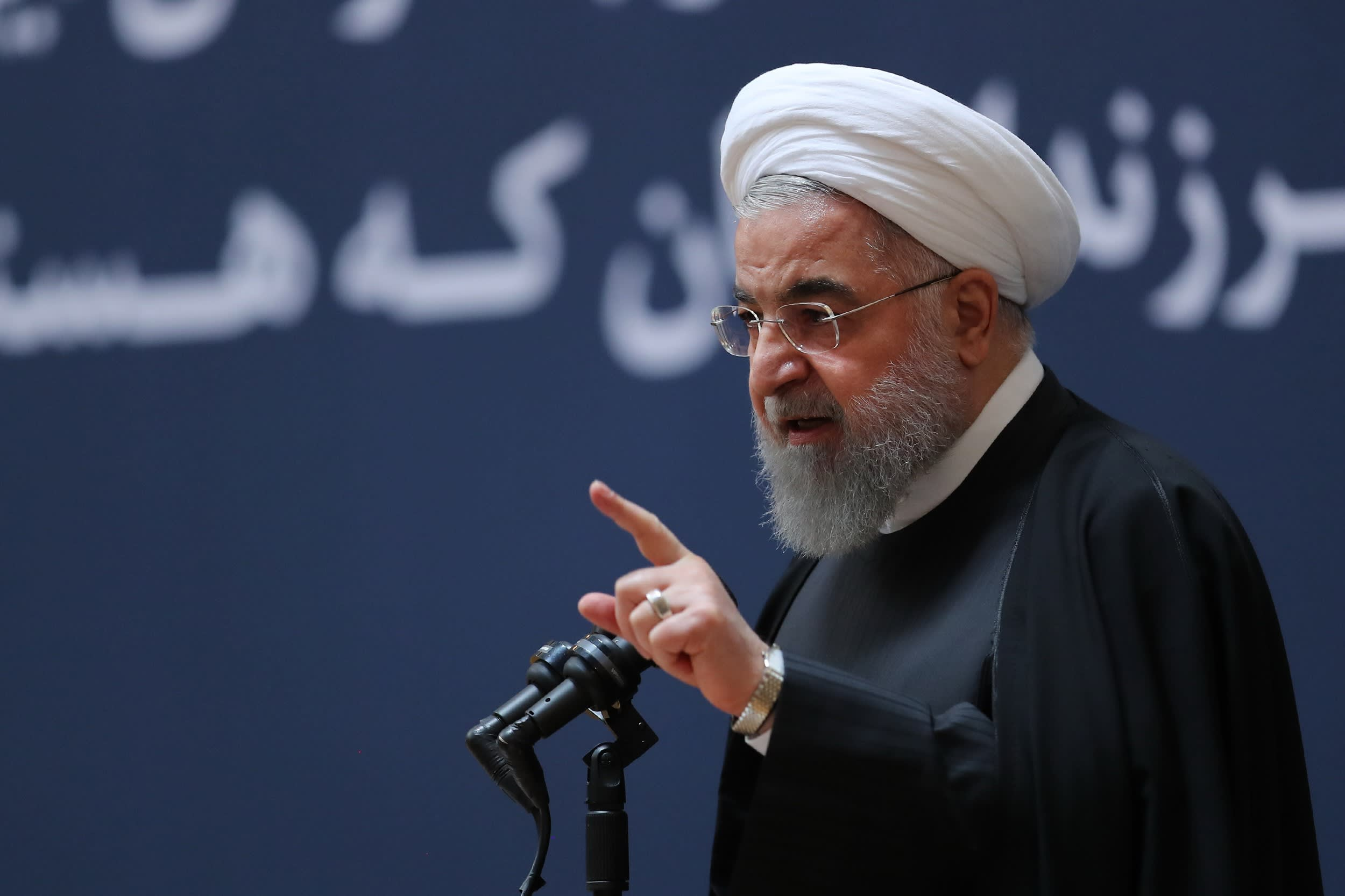 Iran's Rouhani blames US, Saudi for conflict in region