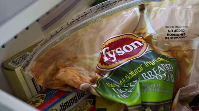 Tyson recalling nearly 70,000 pounds of chicken strips after