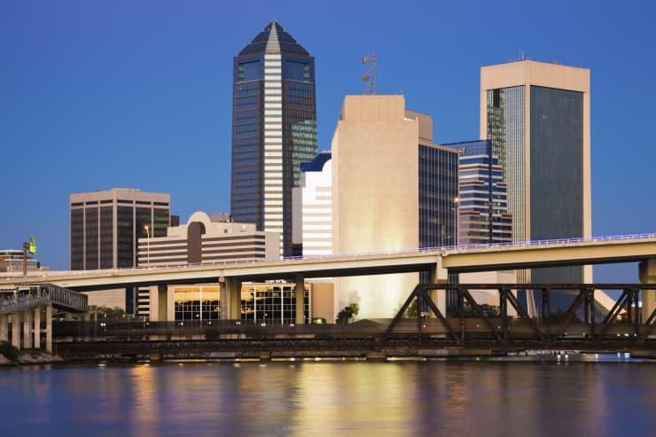 USA, Florida, Jacksonville skyline