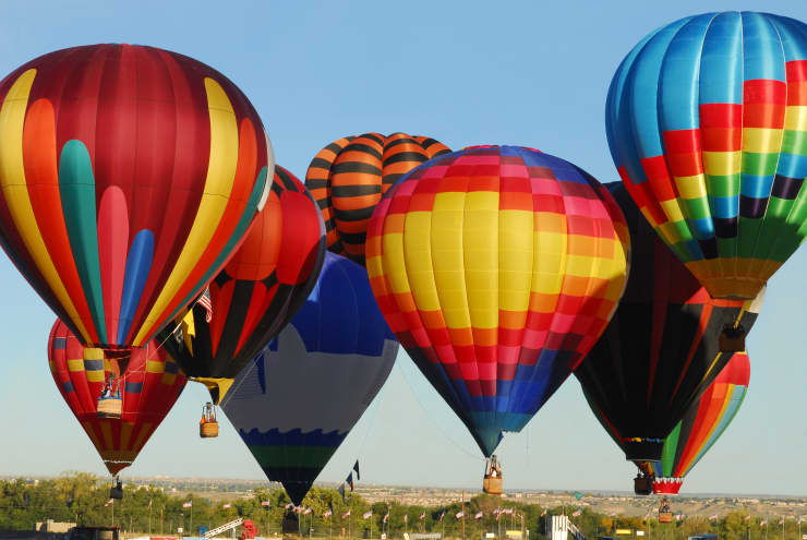 The Beauty of Hot Air Balloons Taking Off