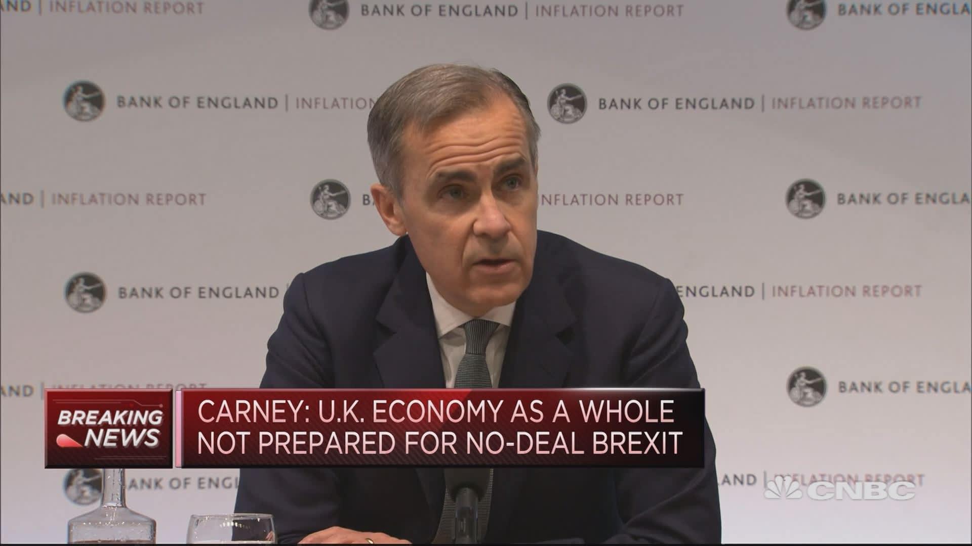 BOE's Carney: Fog of Brexit causing short-term volatility
