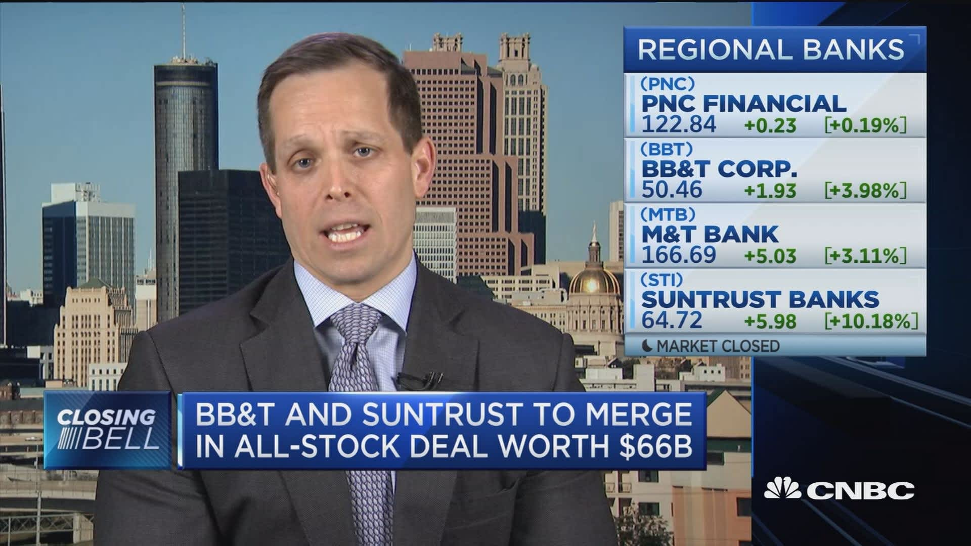BB&T and SunTrust need to be competitive, but not on same scale as Citi or  JP Morgan, says Stephen Scouten