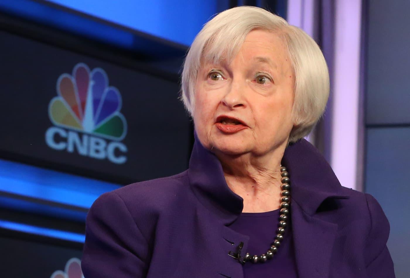 Treasury yields rise ahead of Yellen's Senate speech