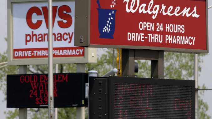 Look at Walgreens and CVS' remodeled stores that focus more