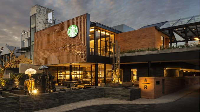 Starbucks Reserve Dewata In Bali Indonesia Has Coffee Farm