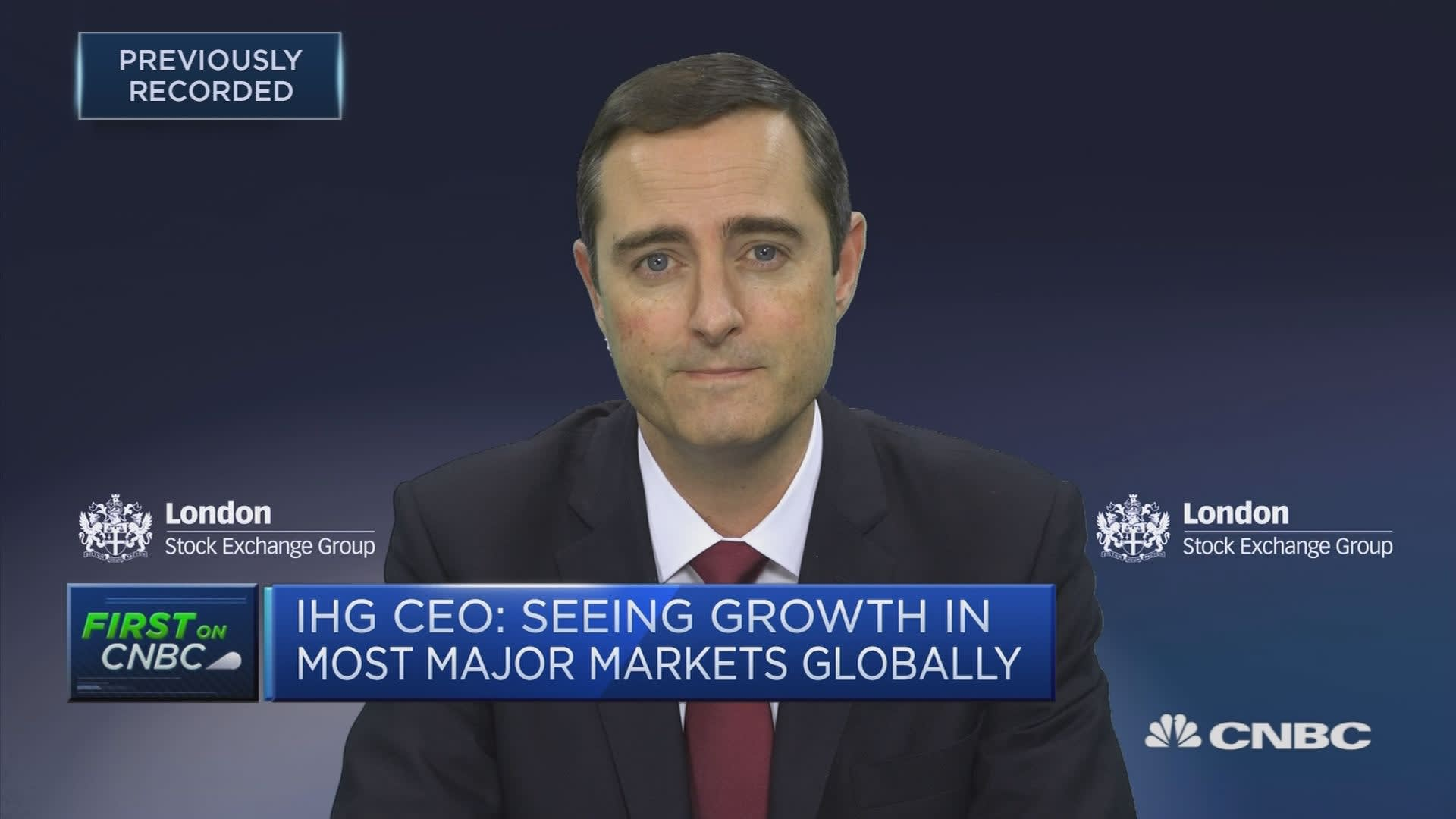 IHG CEO: Seeing growth in most major markets globally