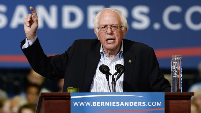 GP: Democratic Presidential Candidate Bernie Sanders Holds Rally At Boston Convention Center