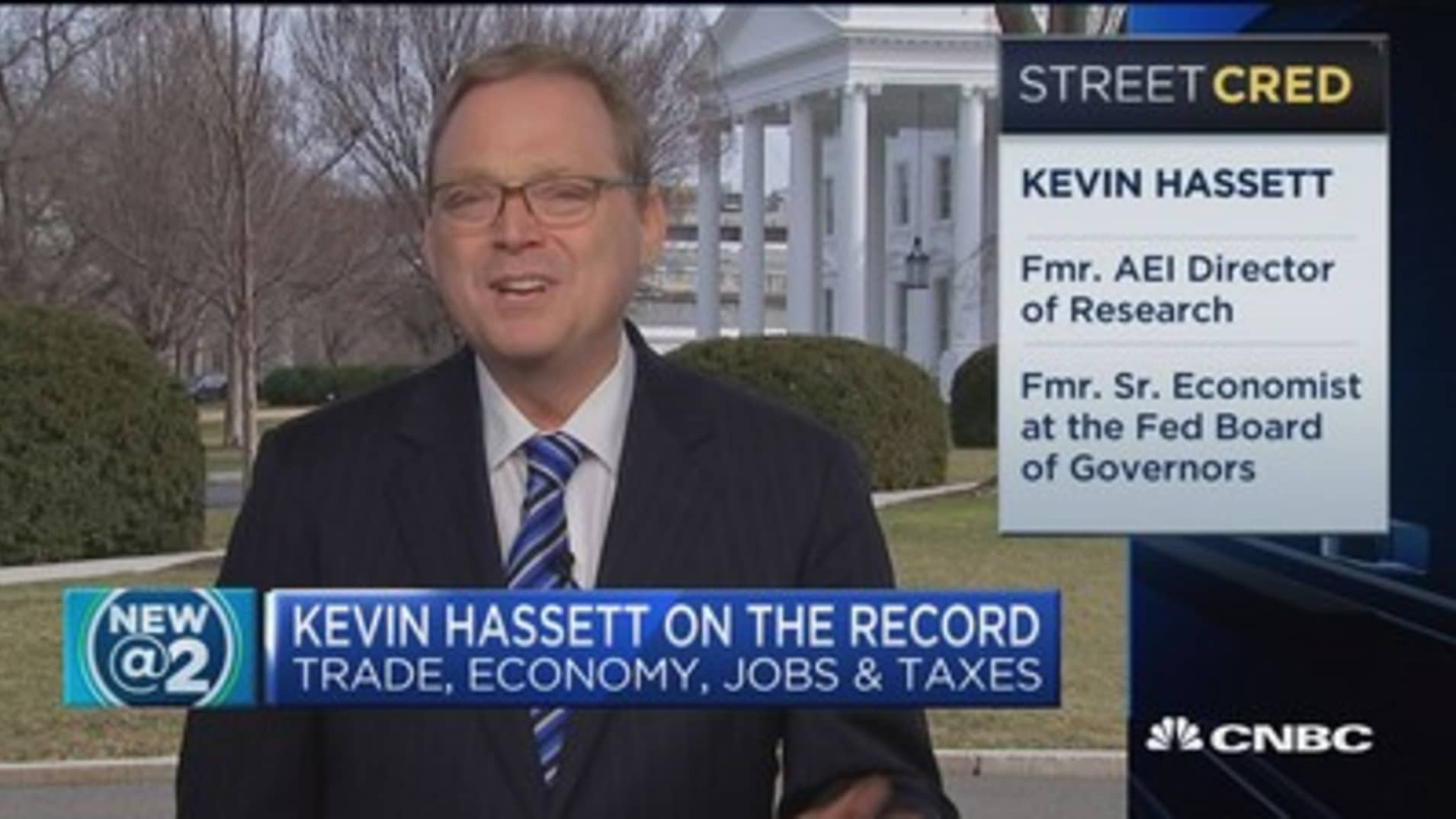 Hassett: Hard time believing recession this year