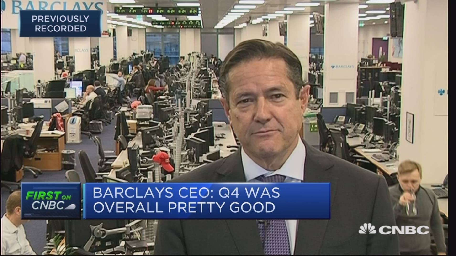 Barclays swings back to profit in 2018, sets aside nearly $200 million for Brexit