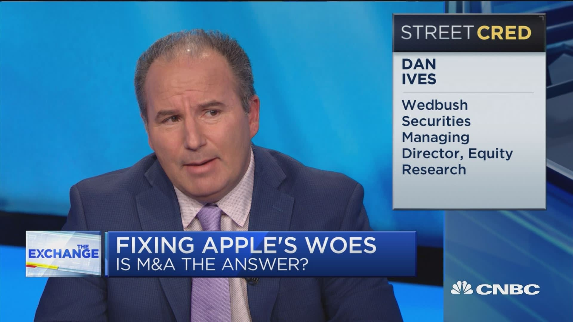 This is the year Apple will finally do a big acquisition, predicts analyst Dan Ives