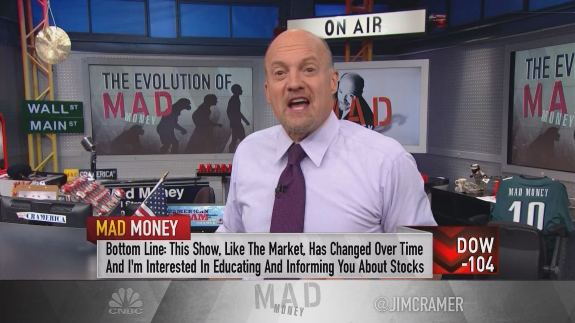 From stock picking to stock educating: The evolution of Jim Cramer's 'Mad Money'