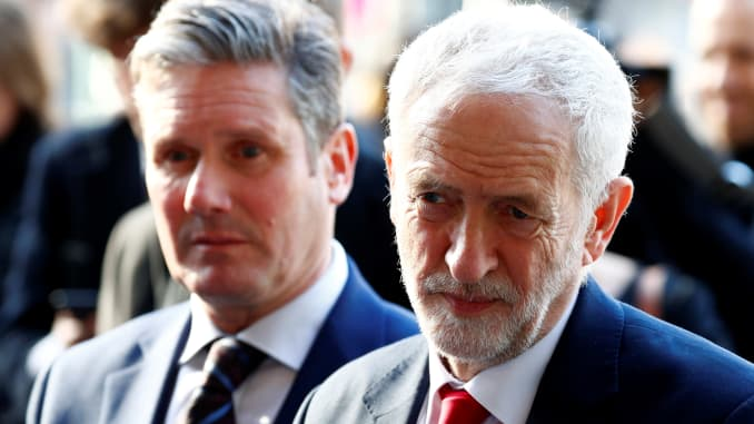 RT: Brexit - Britain's Labour Party leader, Jeremy Corbyn and Labour Party's Shadow Secretary of State for Departing the European Union Keir Starmer l