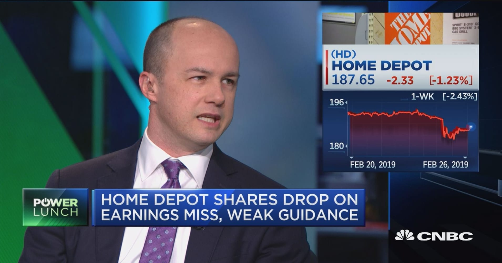 Home Depot earnings miss shows housing market slowing, says research analyst
