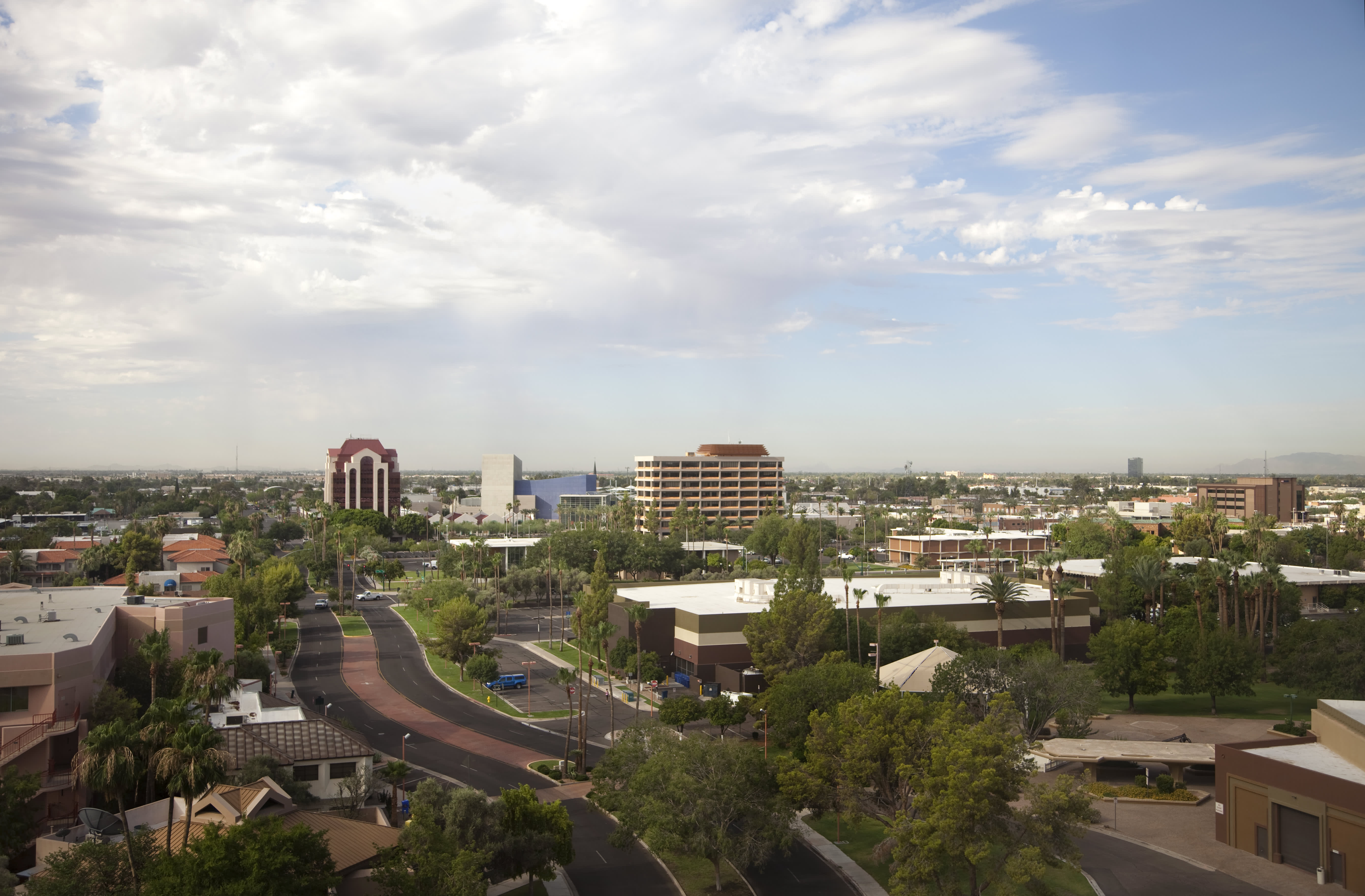 Urban Mesa Arizona Aerial View of City Skyline