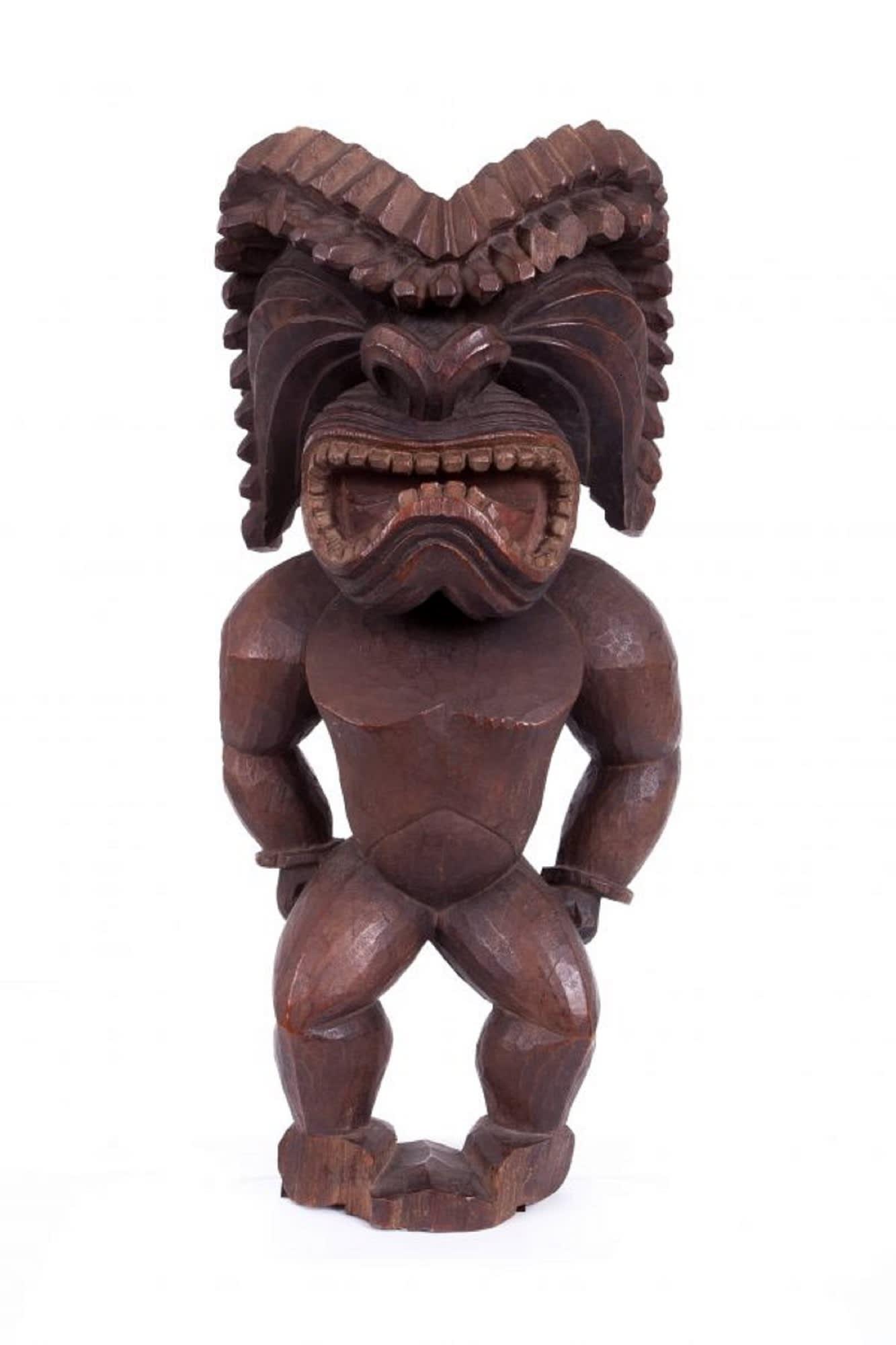 Bishop Museum Hawaiian statue 190304