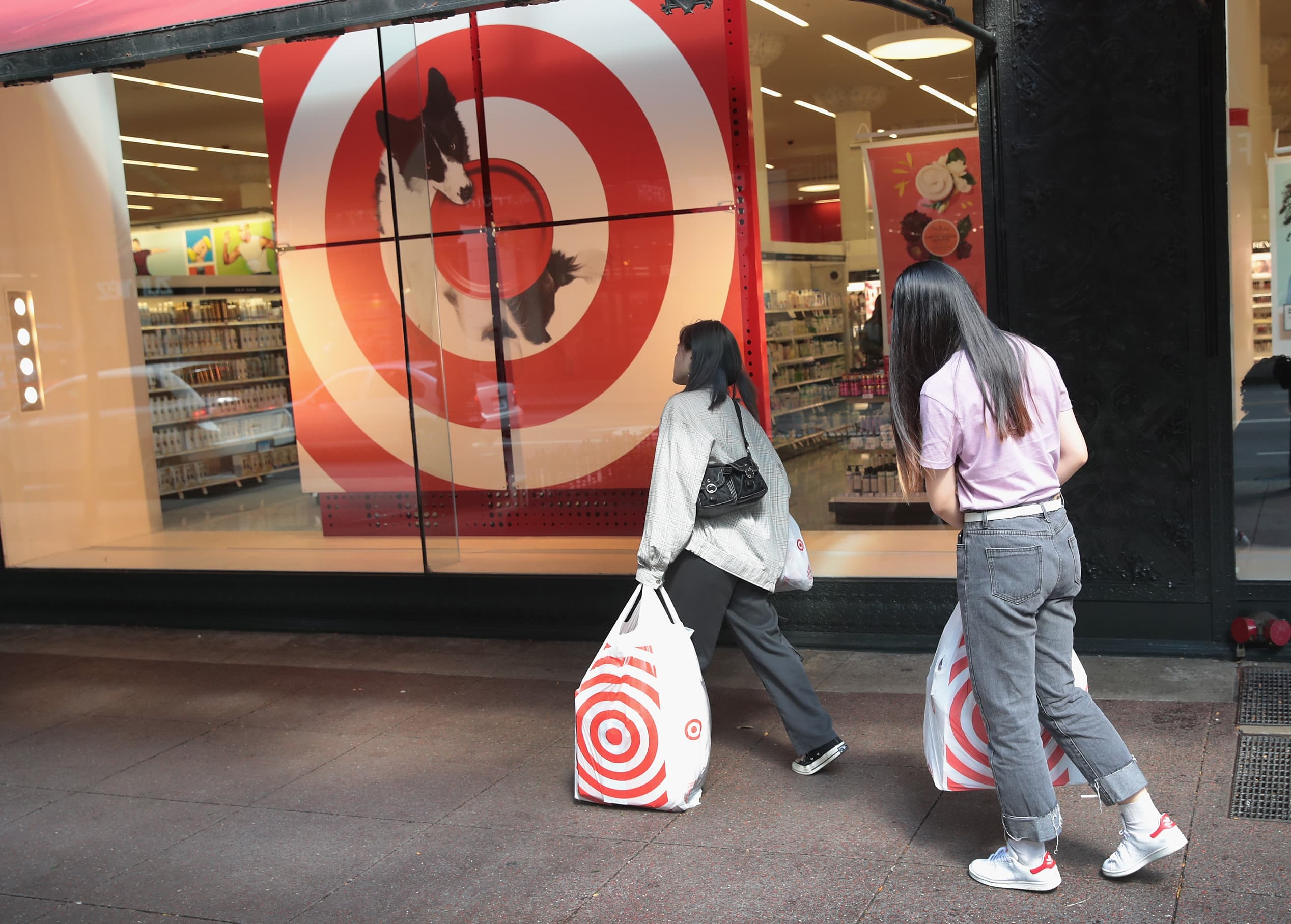 Target shares hit record highs after the retailer blows out earnings estimates