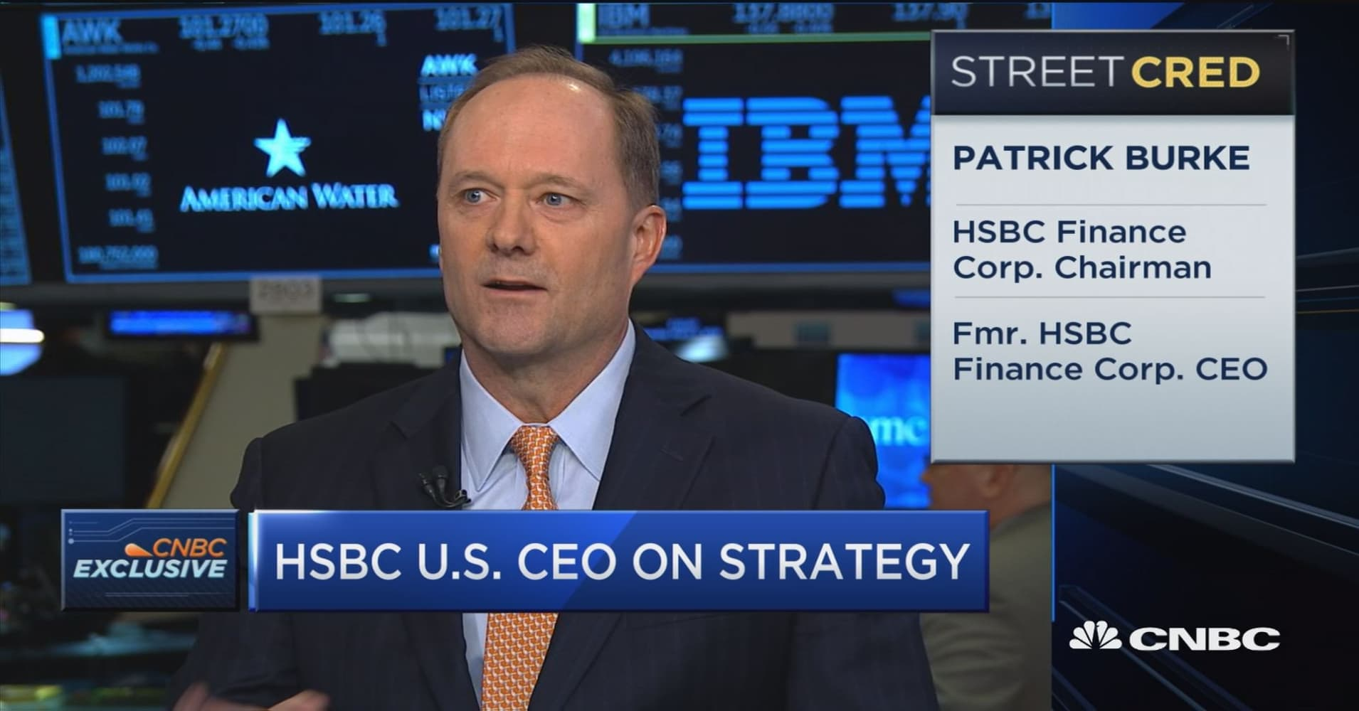 We have a relatively light, unsecured portfolio in the credit card  business, says HSBC USA CEO