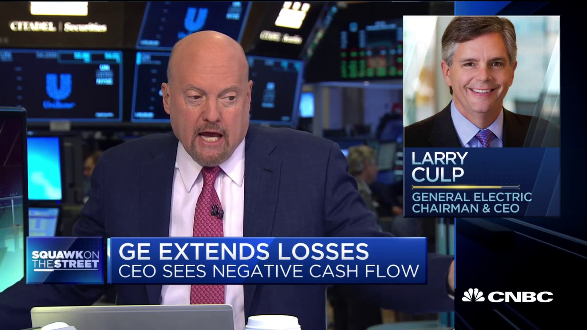 Cramer on the shocker from GE's CEO: 'You dropped a bomb on my head'