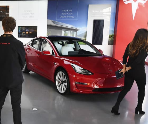 Tesla stock went into reverse and took the Nasdaq with it, possibly signaling near-term top